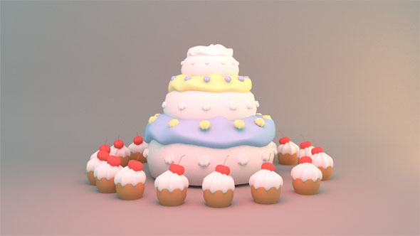 Stupendous 3 Tier Birthday Cake By Tykcartoon Videohive Funny Birthday Cards Online Alyptdamsfinfo
