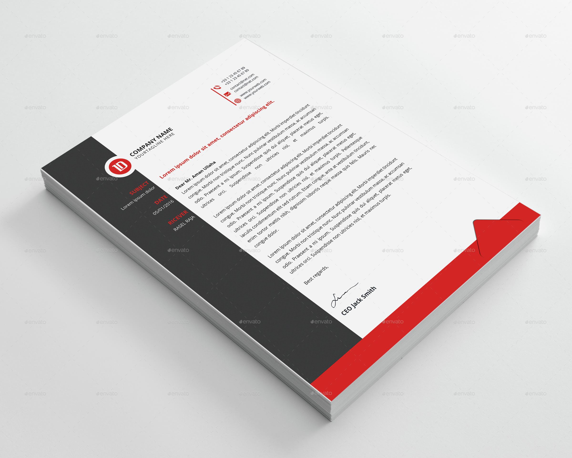 corporate letterhead bundle by elite designer