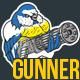 Gunner Bird Sticker - GraphicRiver Item for Sale