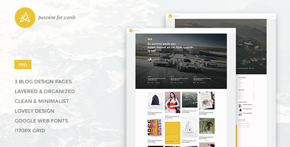 Artistry - Blog/Magazine PSD Theme - PSD Templates
