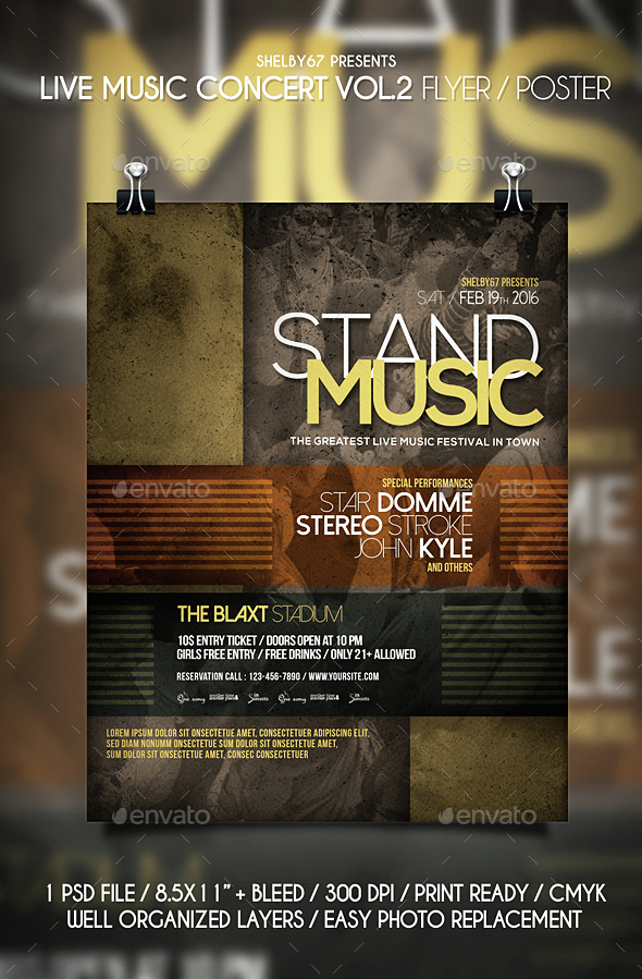 Live Music Concert Flyer / Poster Vol 2 - Events Flyers