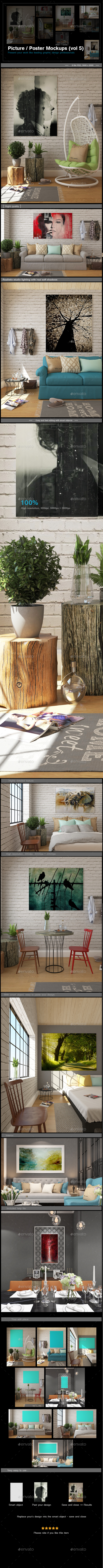 Picture / Poster Mockups [vol5] - Posters Print
