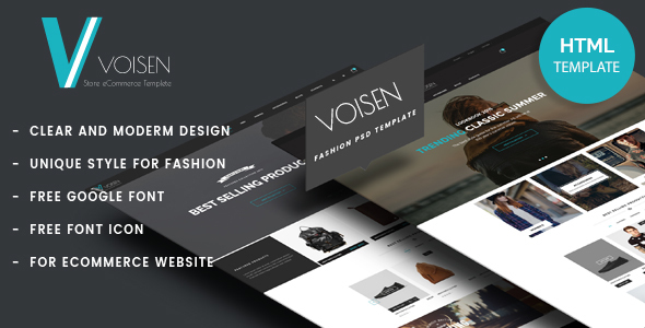 Voisen - Responsive eCommerce Fashion Template - Fashion Retail