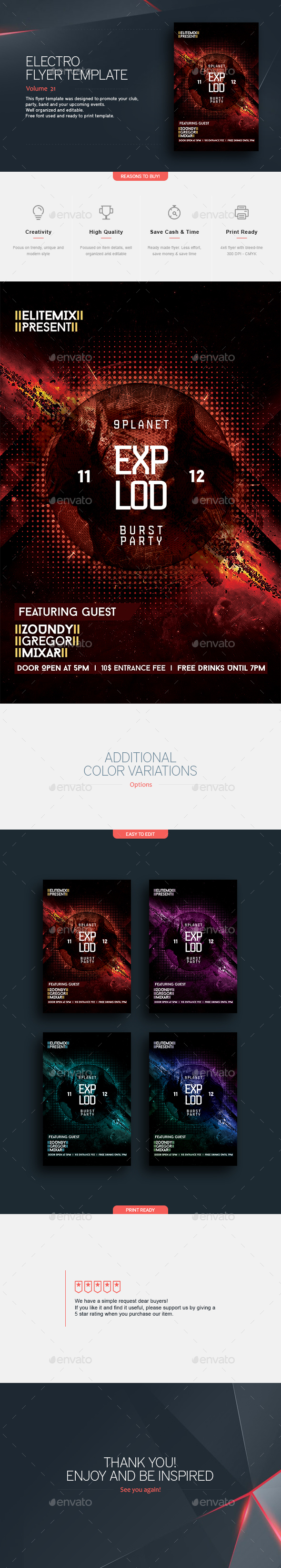 Explod - Flyer Template - Clubs & Parties Events