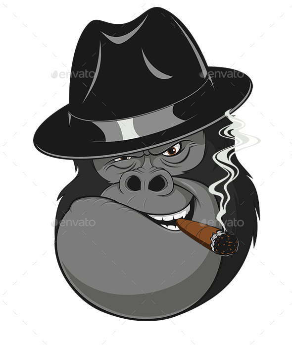 Monkey with a Cigar - Animals Characters