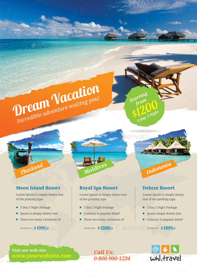 vacation flyer