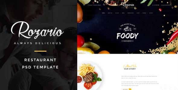 Rozario – Restaurant PSD Template