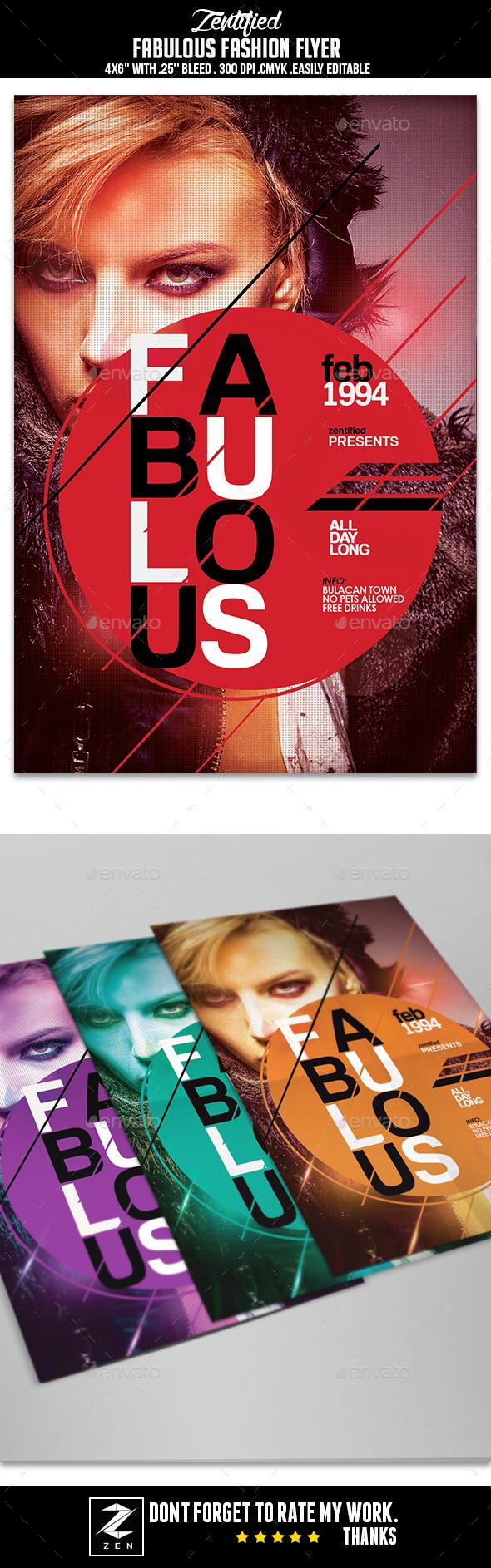 Fabulous Fashion Flyer - Events Flyers
