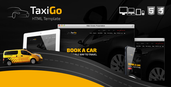 TaxiGo – Taxi Company & Cab Service Website Template