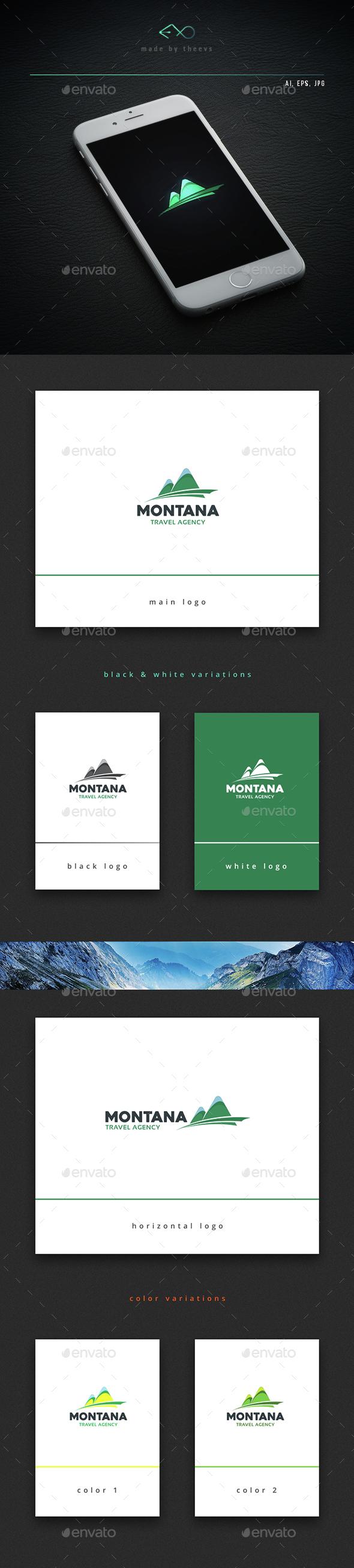 Montana - Vector Abstract