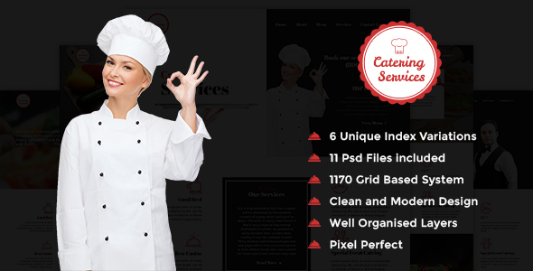 Catering Services – PSD Template