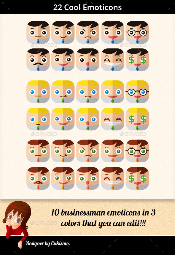 Businessman Emoticons - People Characters
