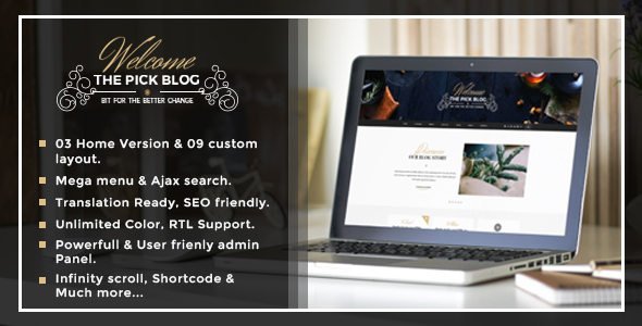 Pick - A Responsive WordPress Blog Theme - Personal Blog / Magazine