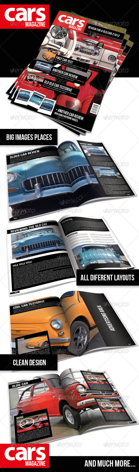 Cars Magazine Indesign Template - Magazines Print Templates