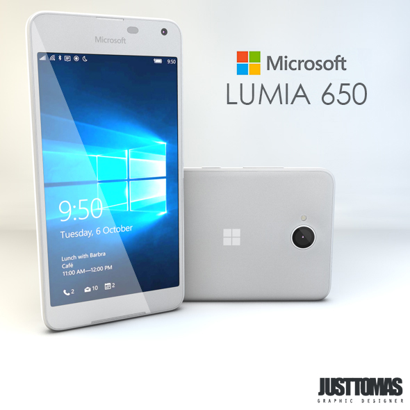 Microsoft Lumia 650 - 3DOcean Item for Sale