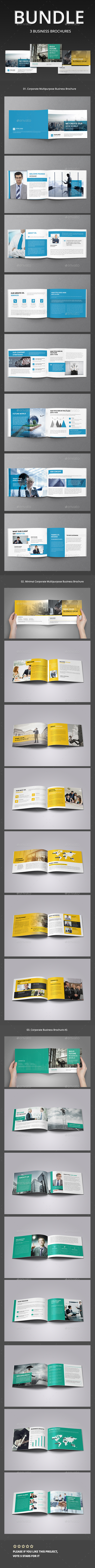 A5 Corporate Business Brochure Bundle  - Corporate Brochures