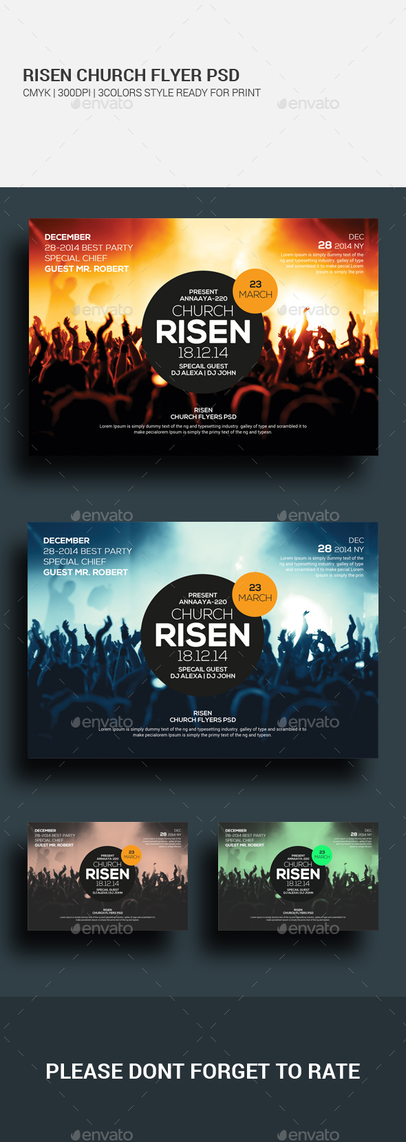 Easter Sunday Church Template Set - Church Flyers