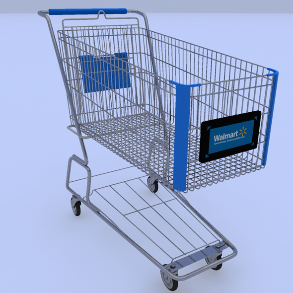 Walmart Shopping Cart - 3DOcean Item for Sale