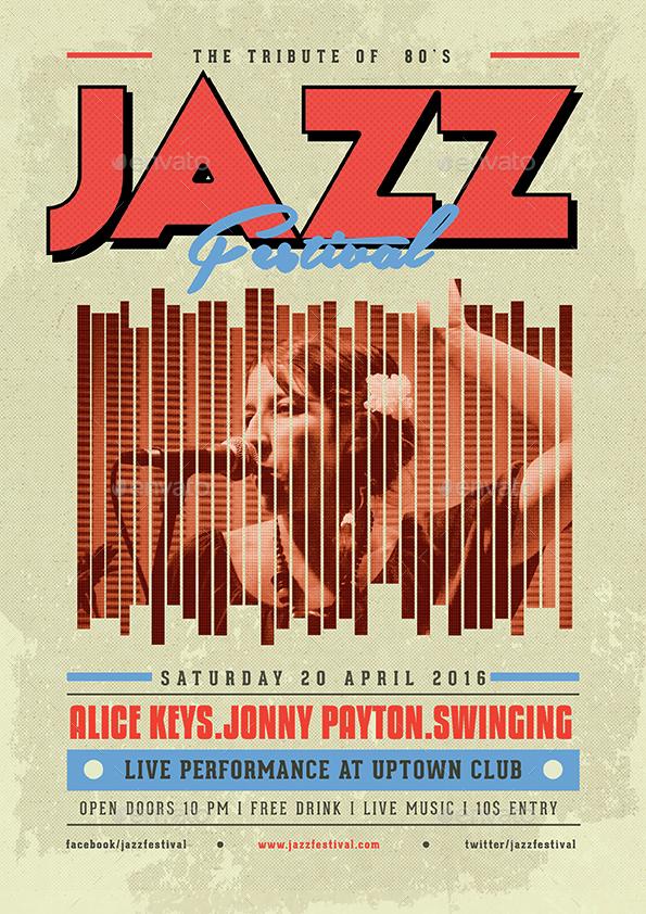 Old Vintage Jazz Flyer