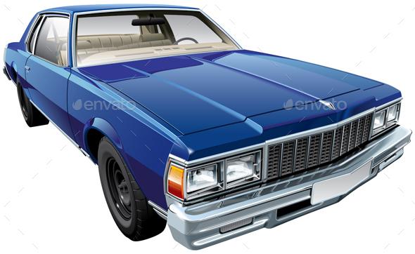 Vintage American Hardtop Coupe - Vectors