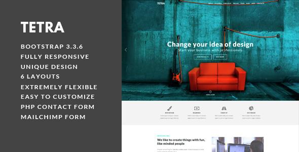 Tetra – Multipurpose Landing Page Template