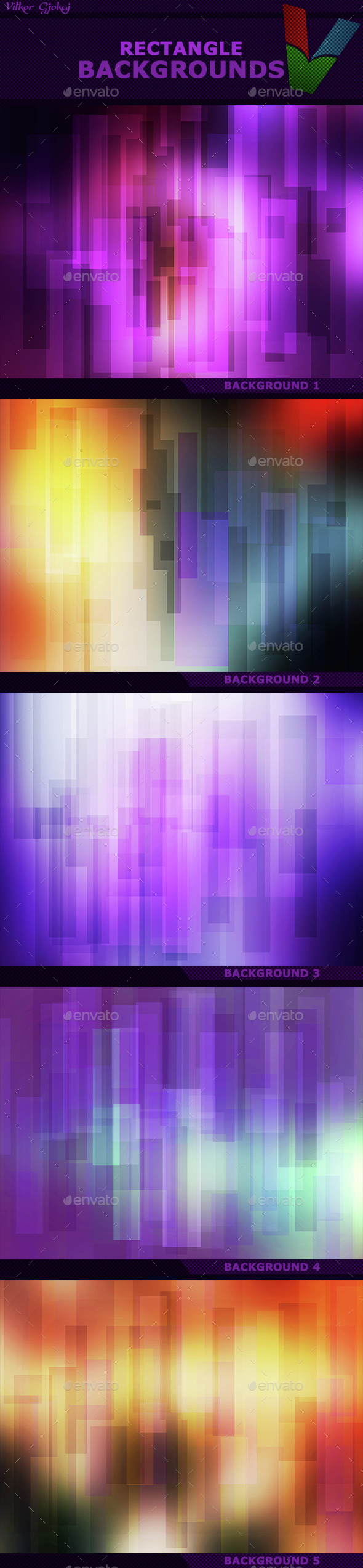 Rectangle Backgrounds I - Abstract Backgrounds
