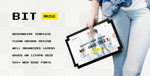 Bit — Original Digital Personal, Agency, Portfolio Muse Template - Creative Muse Templates
