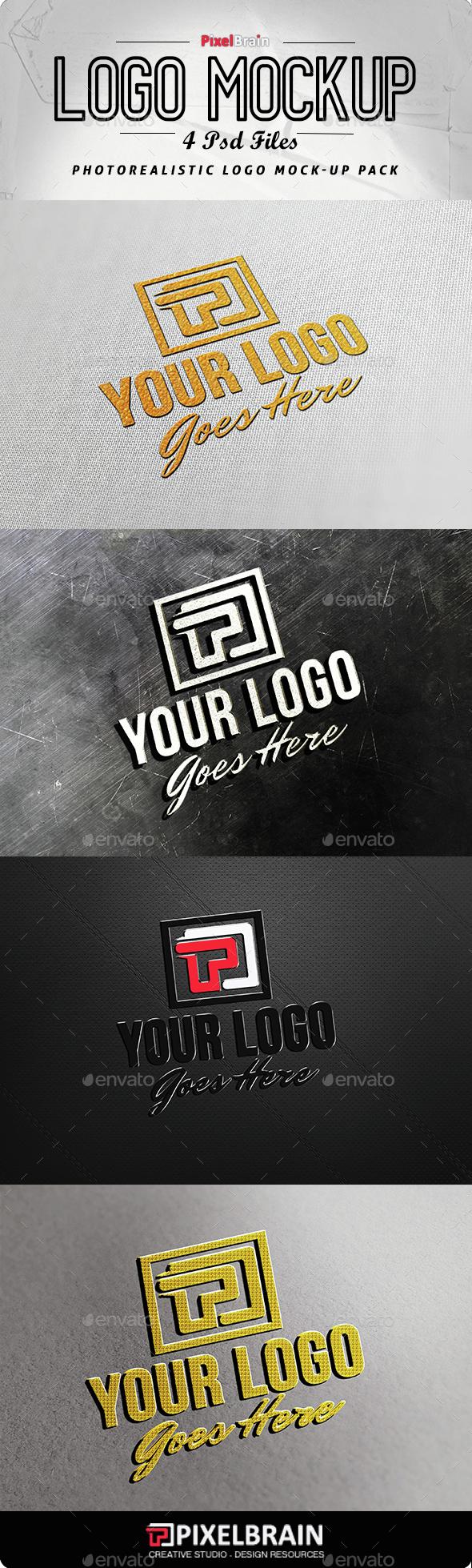 Photorealistic Logo Mockup Pack - Logo Product Mock-Ups