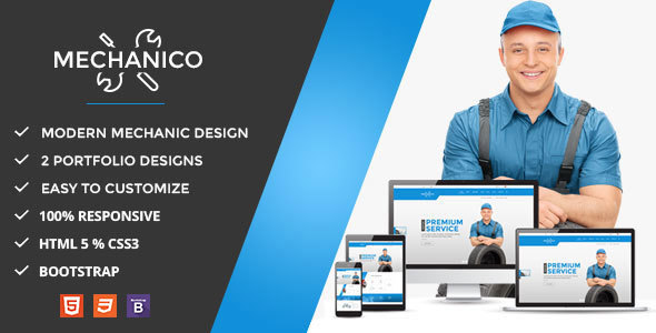 Mechanico - Car Mechanic Shop HTML Template - Business Corporate