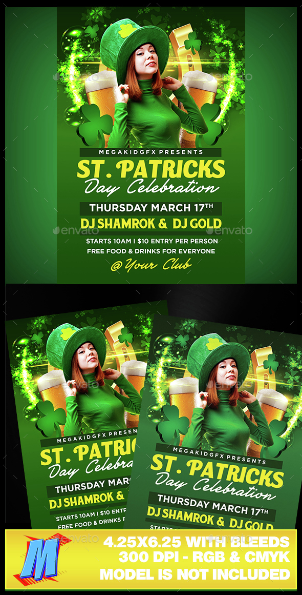 St Patricks Celebration Flyer Template - Clubs & Parties Events