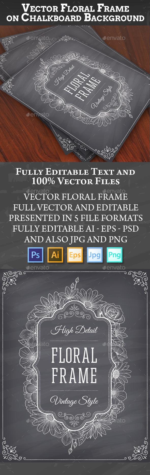 Blackboard Frame Decoration - Borders Decorative