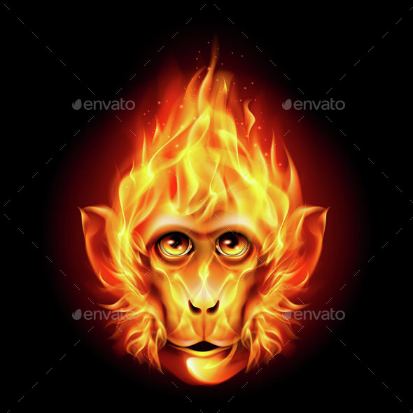 Redhead Fire Monkey - Miscellaneous Vectors