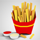 Low Poly French Fries - 3DOcean Item for Sale
