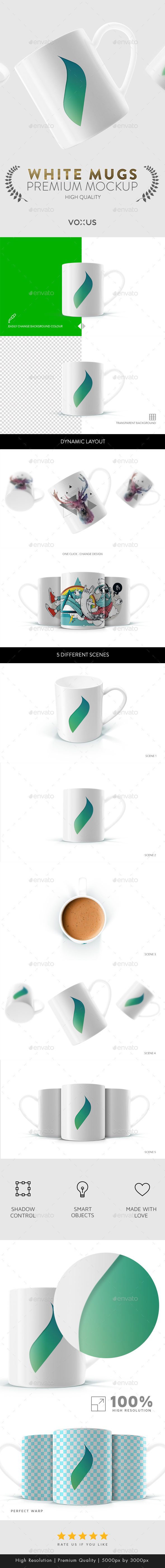 Mug Mock Up - White Mug - Product Mock-Ups Graphics