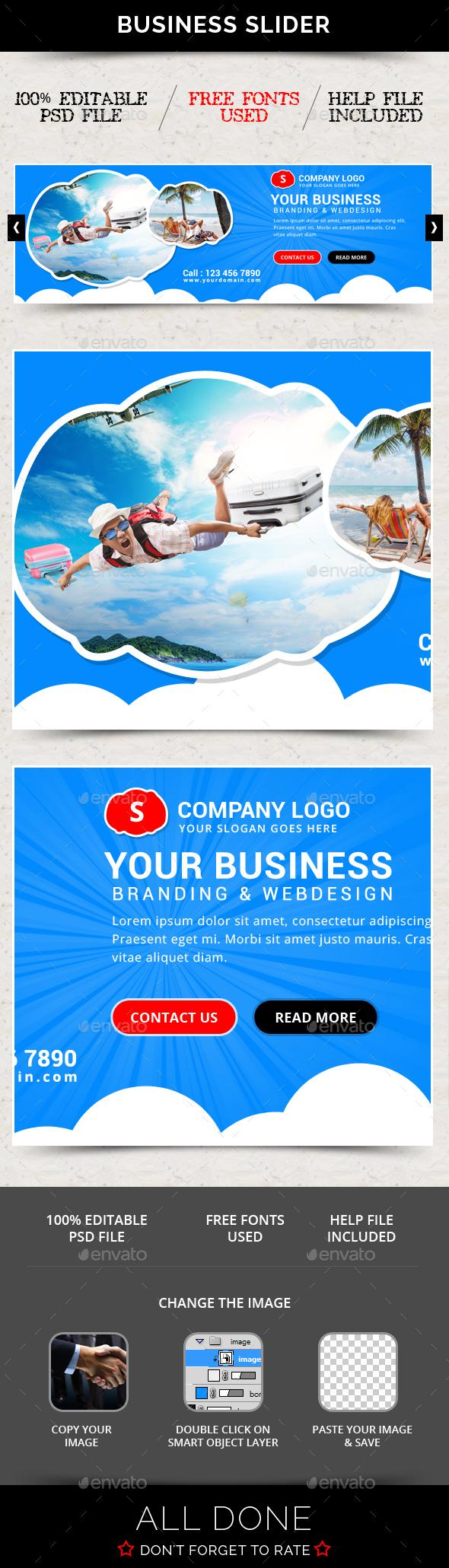 Business Slider V59 - Sliders & Features Web Elements