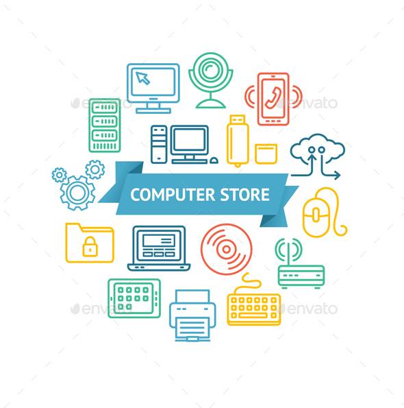 Computer Store Concept - Retail Commercial / Shopping