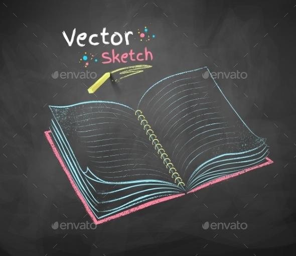 Chalked School Notebook - Backgrounds Decorative