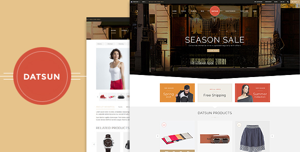 Datsun – Responsive Ecommerce Template