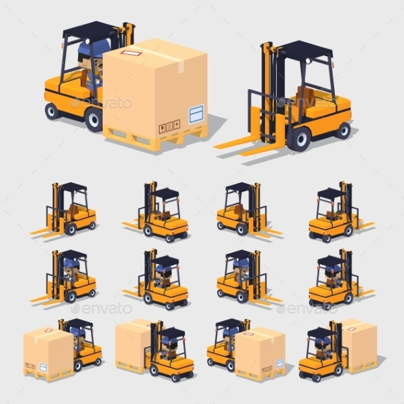 Forklift - Man-made Objects Objects