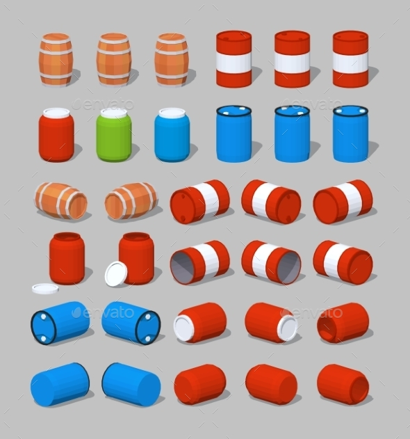 Barrels - Man-made Objects Objects