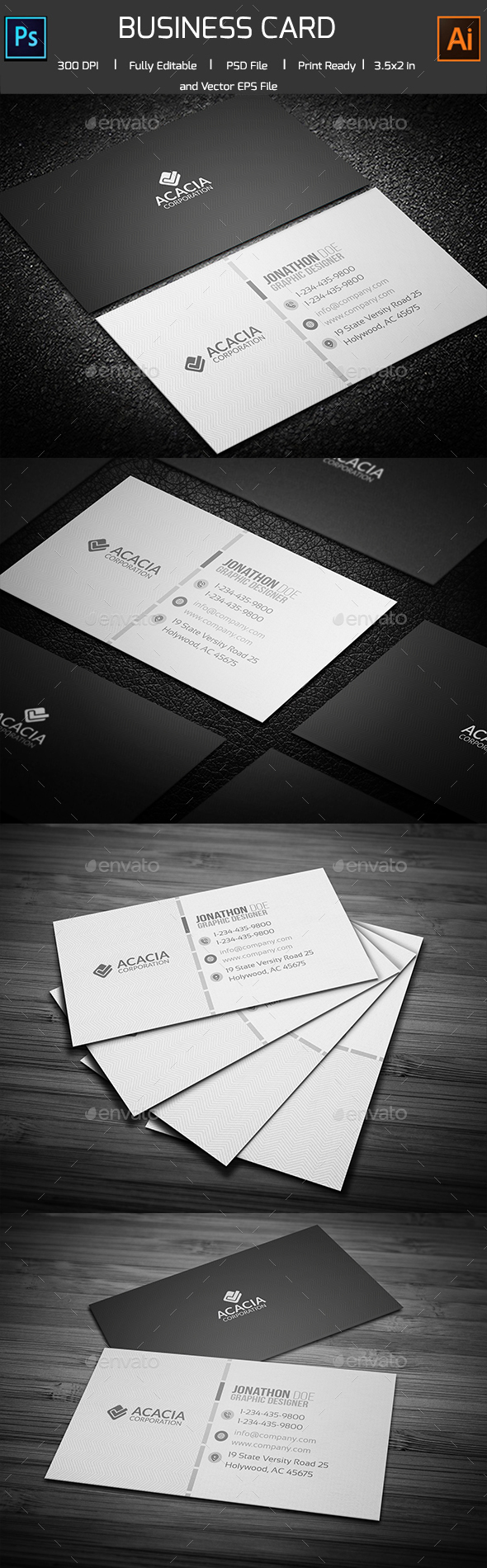 Simple Personal Business Card - Corporate Business Cards