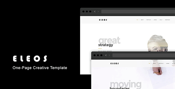 Eleos - One-Page Creative Template - Creative Site Templates