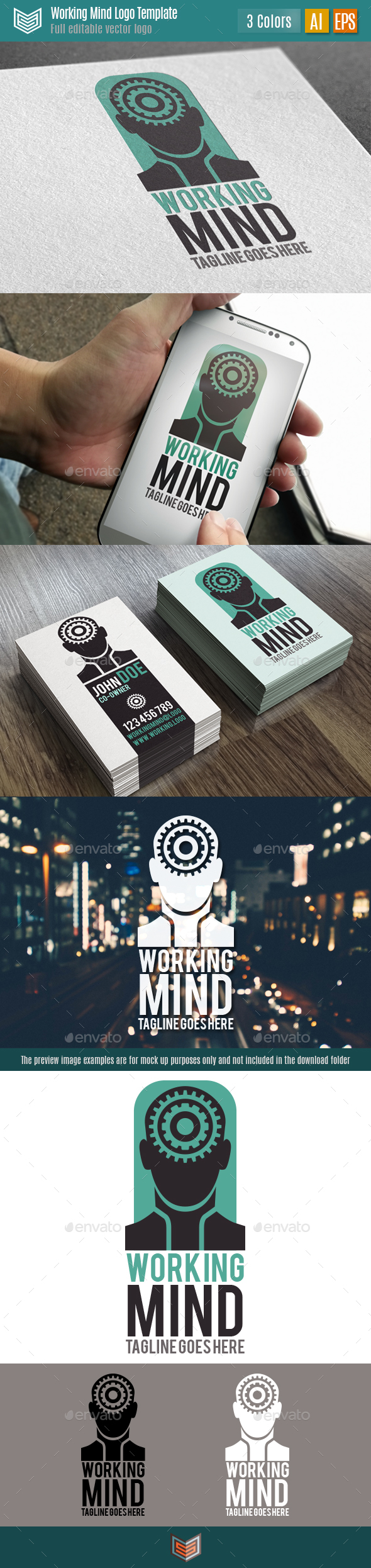 Working Mind Logo - Humans Logo Templates
