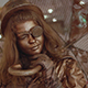 Live Bronze Statue of a Steampunk Girl  - VideoHive Item for Sale