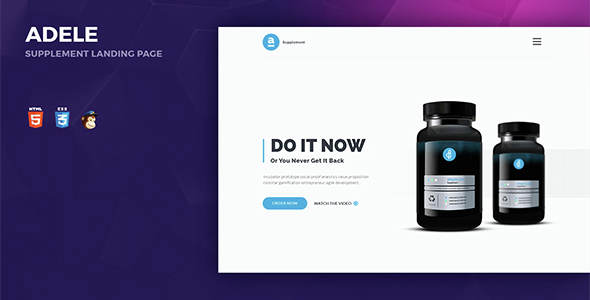 Adele Responsive Supplement Landing Page