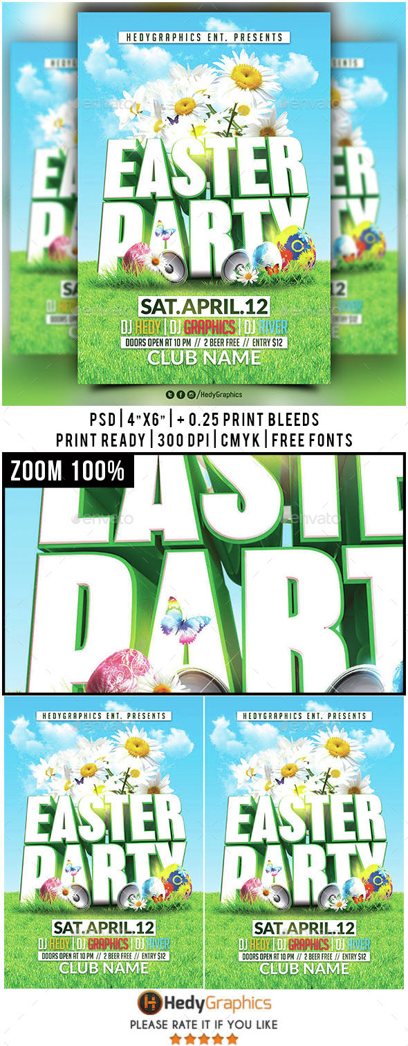 Easter Party - Flyer Template - Holidays Events