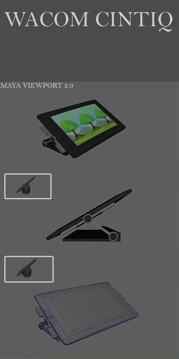 Wacom Cintiq - 3DOcean Item for Sale