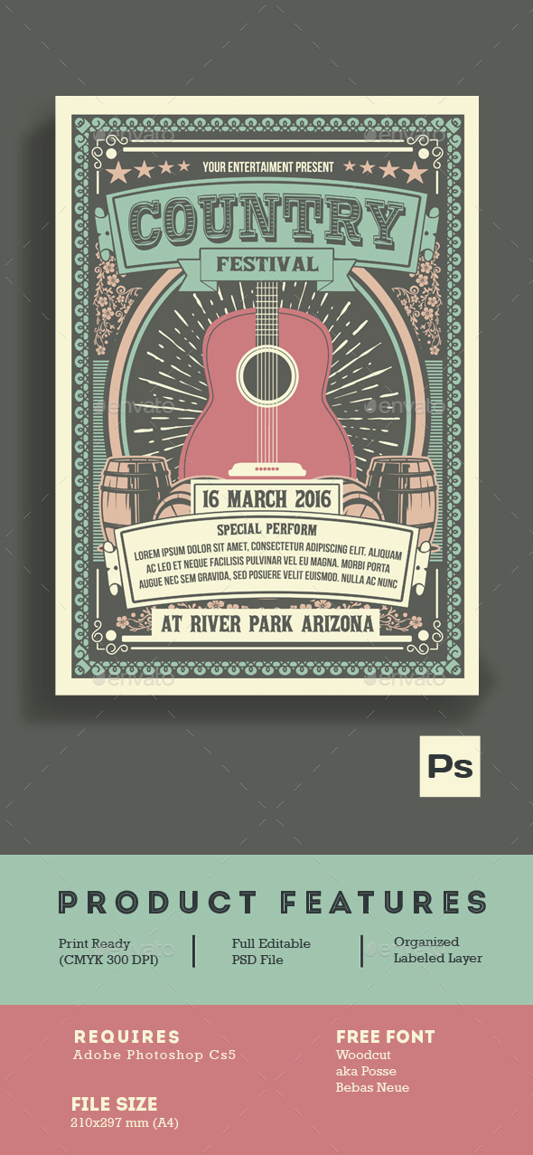 Vintage Country Music Festival - Events Flyers