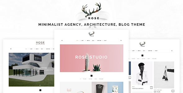 Rose - Minimalist Agency, Architecture, Blog Theme