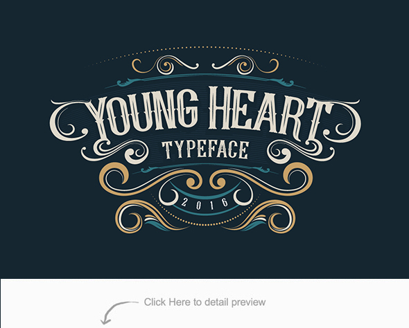 Young Heart Typeface - Serif Fonts